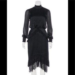 Black Saloni midi dress